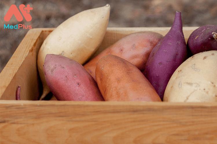 Mẹ bầu bị ung thư đại tràng nên ăn gì: Khoai lang